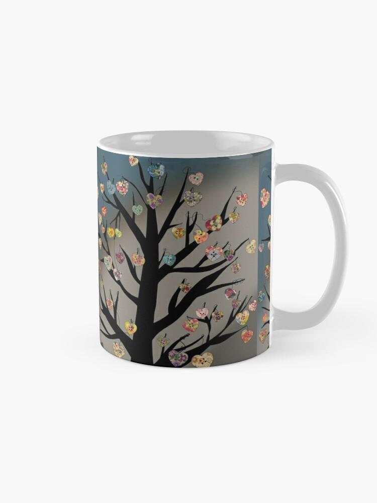 Heart Shaped Buttons on a Tree | Mug