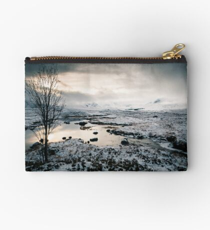 The Black-and-White Mount Zipper Pouch
