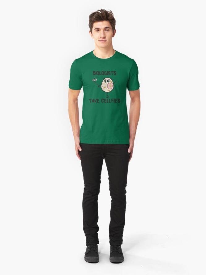 Alternative Ansicht von Biologists Take Cellfies - Funny Biology Jokes Gift Slim Fit T-Shirt