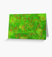 Leaves and grass Greeting Card