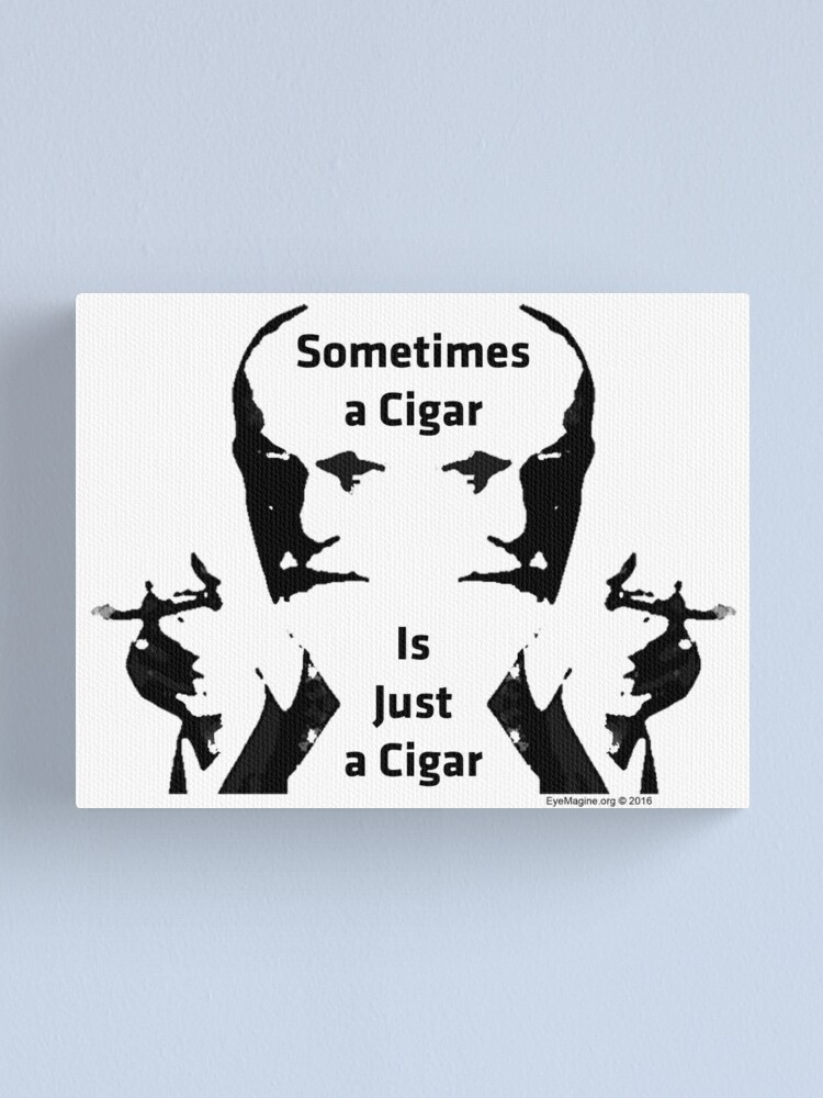 Alternate view of Sometimes a Cigar is Just a Cigar Canvas Print
