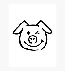 Cute pig face Photographic Print