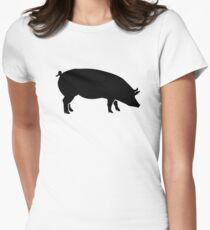 Black pig Women's Fitted T-Shirt