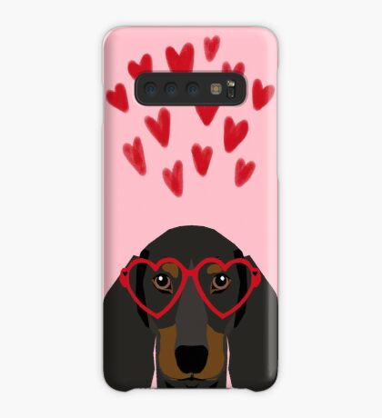 Dachshund dog breed pet art valentines day doxie must haves Case/Skin for Samsung Galaxy