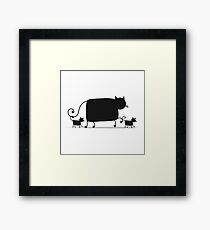 Couple cats Framed Print