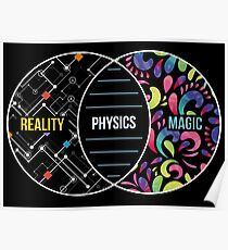 Physics Like Magic But Real - Funny Physics Pun Gift Poster