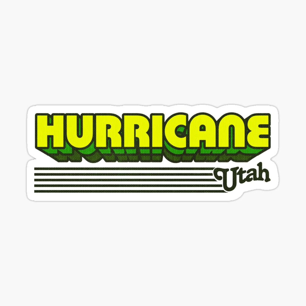 Hurricane, Utah | Retro Stripes Sticker