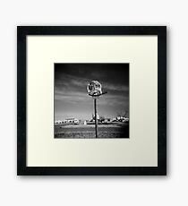Basketball Net Survivor Framed Print