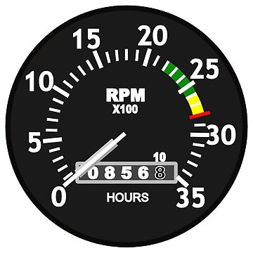 TACHOMETER, RPM, SPEED, RACE, MOTORSPORT, RACING, SPEEDOMETER, REV COUNTER, on WHITE by TOMSREDBUBBLE