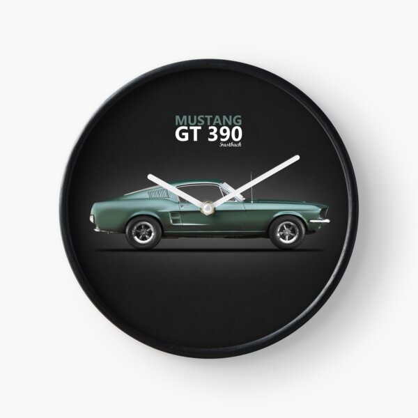 The Bullitt Mustang 390 GT Clock
