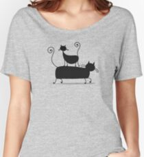 Couple cats Women's Relaxed Fit T-Shirt