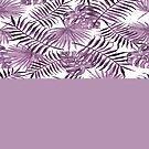 «Hojas botánicas en violeta» de by-jwp
