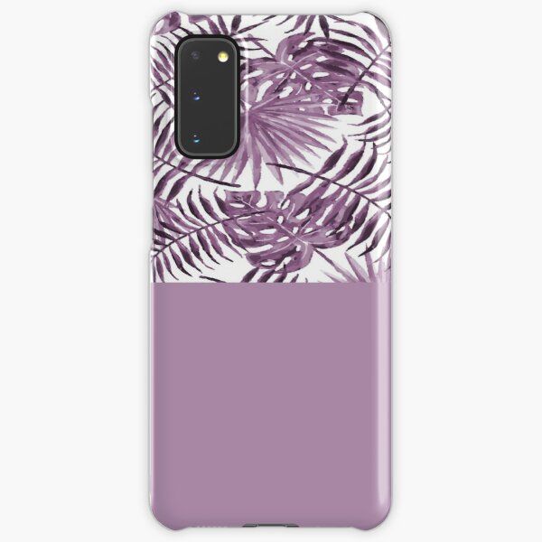 Botanical Leaves In Violet Samsung Galaxy Snap Case