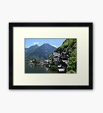 lake, austria Framed Print