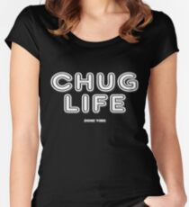 Chug Life (Dark Backgrounds) Women's Fitted Scoop T-Shirt