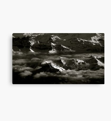 SWIS ALPS AT 40,000 FEET Canvas Print