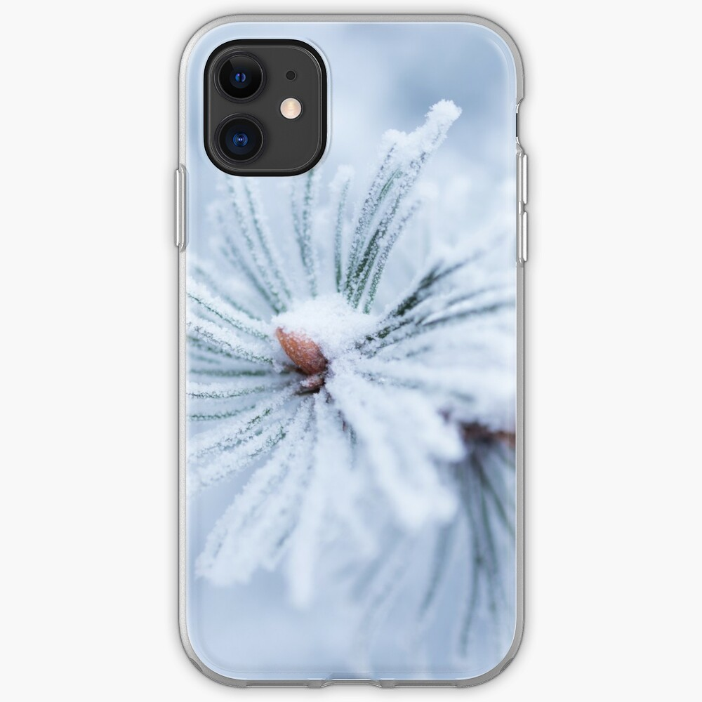 Hoarfrost on tree needles  iPhone Case & Cover