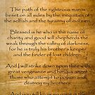 Ezekial 25:17 (Reliced Background) by Roz Abellera Art Gallery