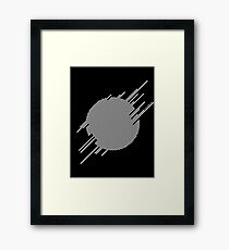 ABshapes in a disc (w) Framed Print