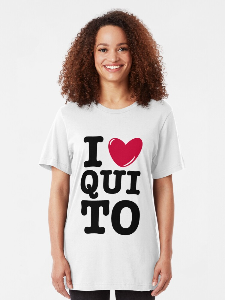 I Love Heart Ecuador Ladies T-Shirt