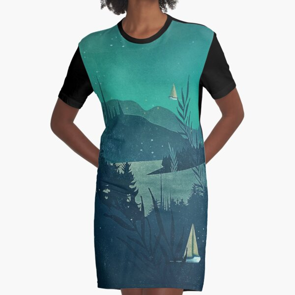Beneath Barafundle Graphic T-Shirt Dress