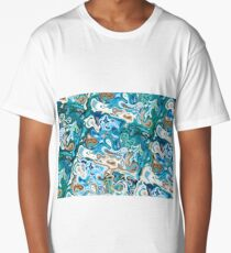 Liquid (Abstract Color Combination) Long T-Shirt