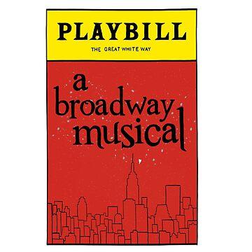Playbill Broadway Design by odetospace