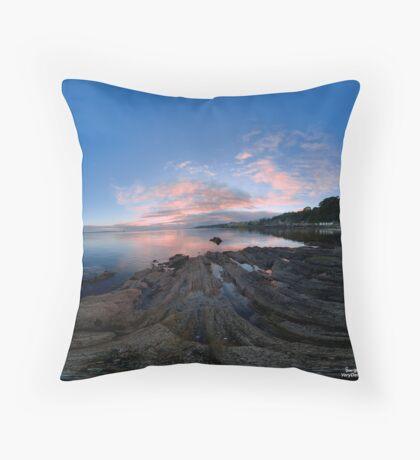 Dusk Shoreline near Moville, Donegal (Rectangular) Throw Pillow