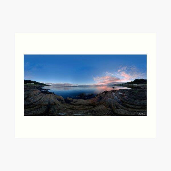 Dusk Shoreline near Moville, Donegal (Rectangular) Art Print