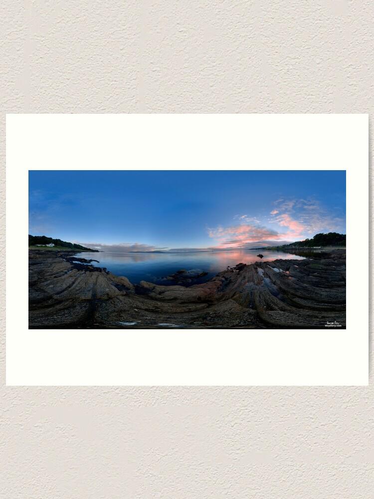 Alternate view of Dusk Shoreline near Moville, Donegal (Rectangular) Art Print