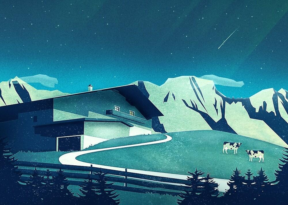 Alpine Hut von schwebewesen