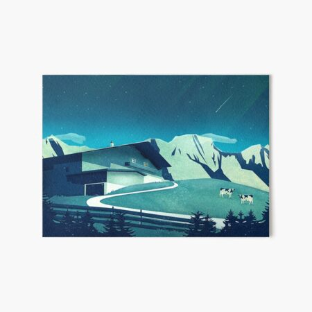 Alpine Hut Galeriedruck