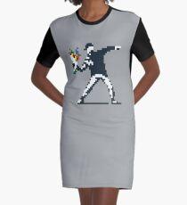 FLower Thrower Graffiti Pixel  Graphic T-Shirt Dress