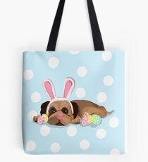 Easter Pug Tote Bag