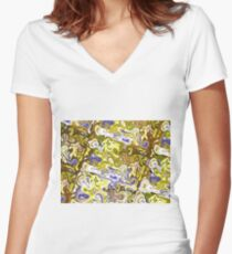 Liquid (Abstract Color Combination) IV Women's Fitted V-Neck T-Shirt