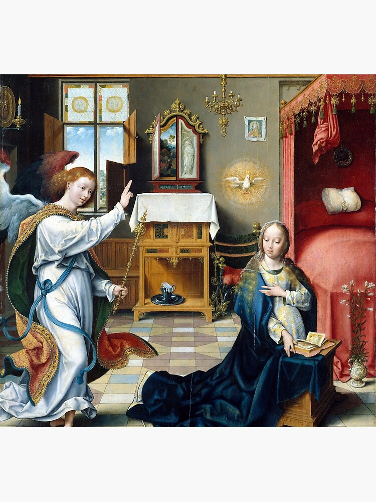 Joos van Cleve Annunciation by pdgraphics