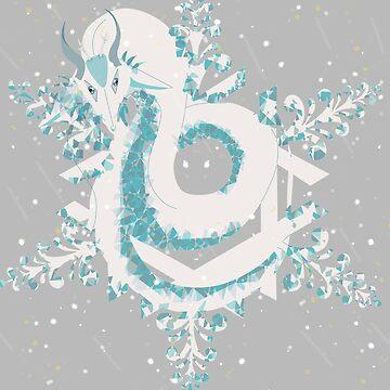 Snowflake Dragon by KHRArts