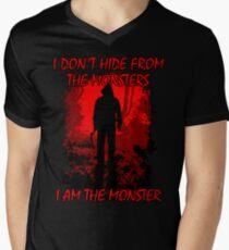 I Am The Monster Mens V-Neck T-Shirt