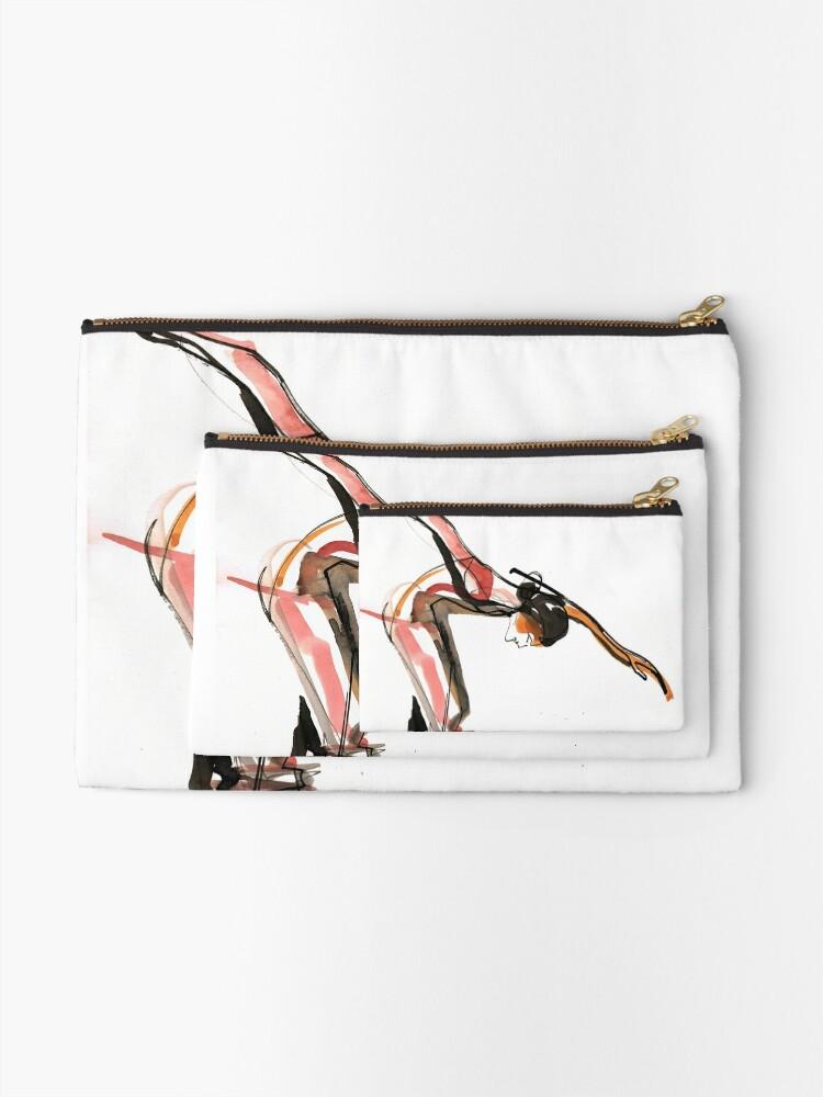 Alternate view of Ballet Dance Drawing Zipper Pouch