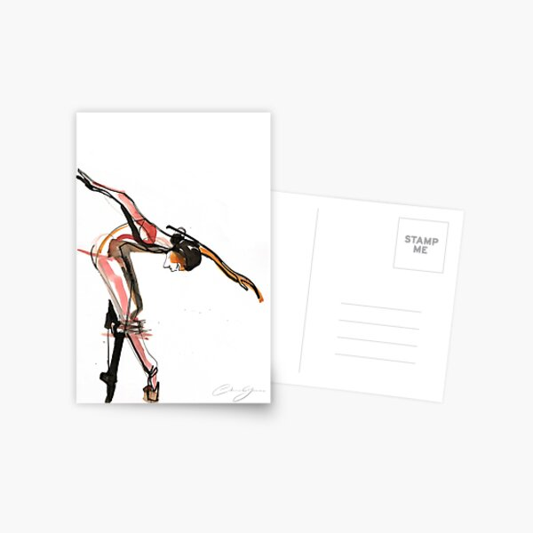 Ballet Dance Drawing Postcard