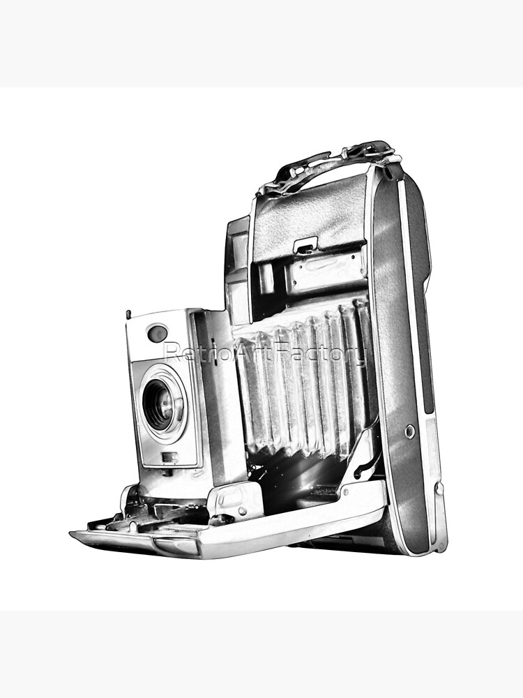 Polaroid Camera with Bellows by RetroArtFactory