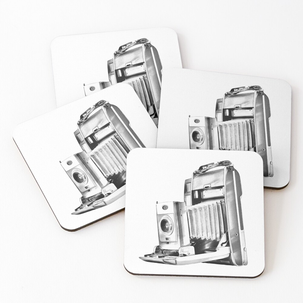 Polaroid Camera with Bellows Coasters (Set of 4)