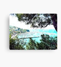 Agropoli: landscape with port Canvas Print