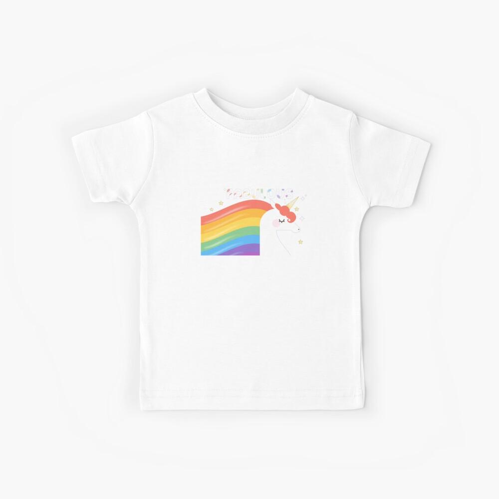 Fabulous Sparkling Rainbow Unicorn Kids T-Shirt