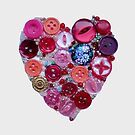 Buttons & Beads Heart by FrancesArt