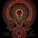 Reborn Lotus Mandala Black - By SimmyGhatt by simmyghatt