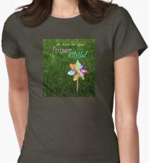 Inner Child Pinwheel Inspirational message childhood spirit Women's Fitted T-Shirt