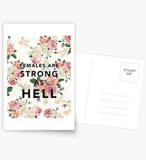 Females are Strong As Hell Postcards