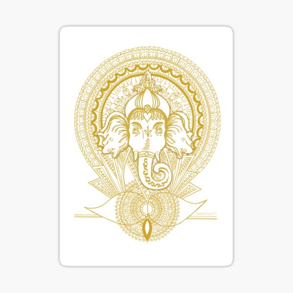 Ganesh Reborn Mandala - By SimmyGhatt Sticker