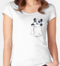Pocket Panda Women's Fitted Scoop T-Shirt